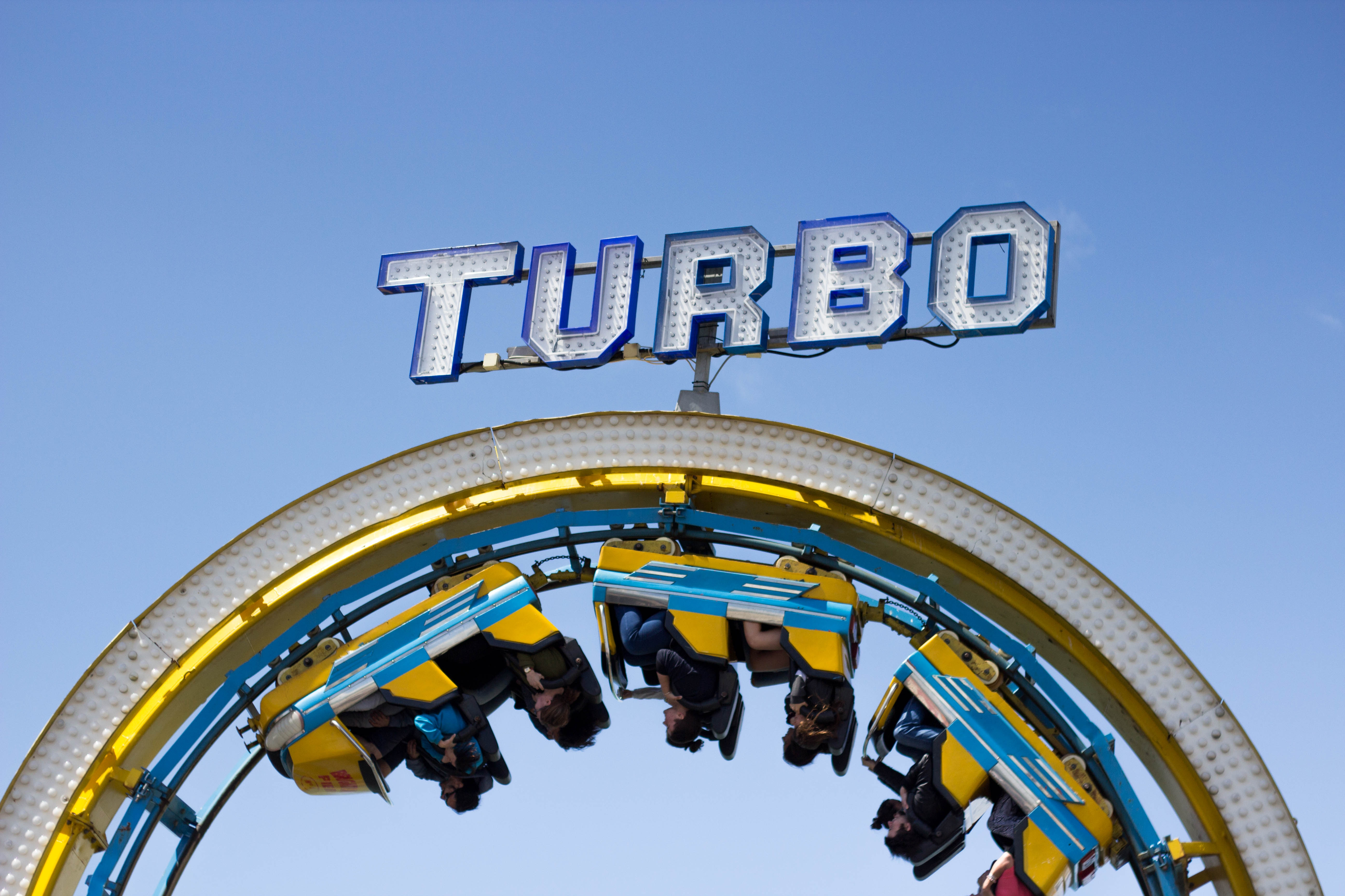 A fun roller coaster named Turbo.