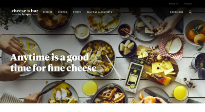 Screenshot of Cheesebar hompage