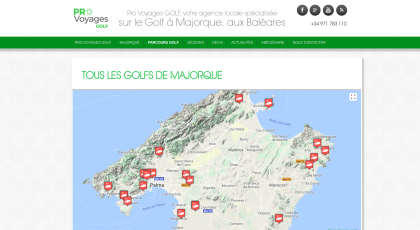 Screenshot of Golf Baleares map page