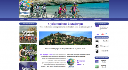 Screenshot of VeloMajorqueVoyages homepage