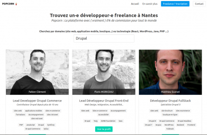 Screenshot of Popcorn Nantes website